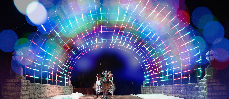 holiday lights in Oshkosh, WI